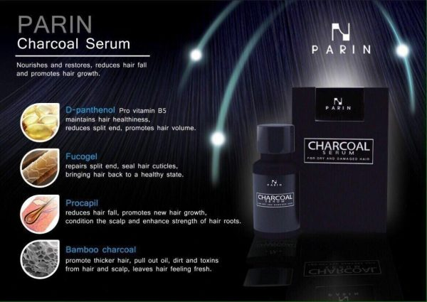 PARIN Hair Serum Charcoal Treatment For Dry Damaged To Healthy Silky Soft Moist 1