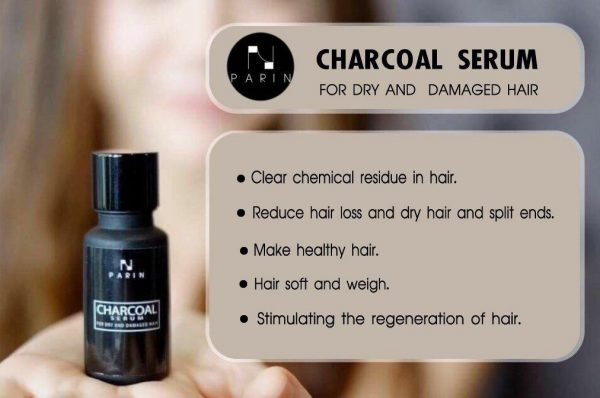 PARIN Hair Serum Charcoal Treatment For Dry Damaged To Healthy Silky Soft Moist 2